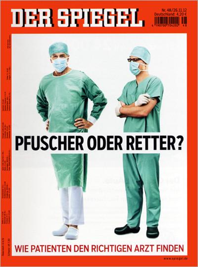 Dr. Köhler auf der Titelseite des SPIEGEL (27.11.2012)